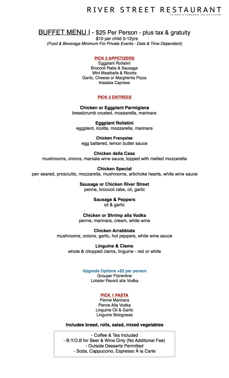 River Street Private Event Menu1
